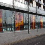 Art glass facade at Sainsbury's Central Milton Keynes: Mel Howse, 2008